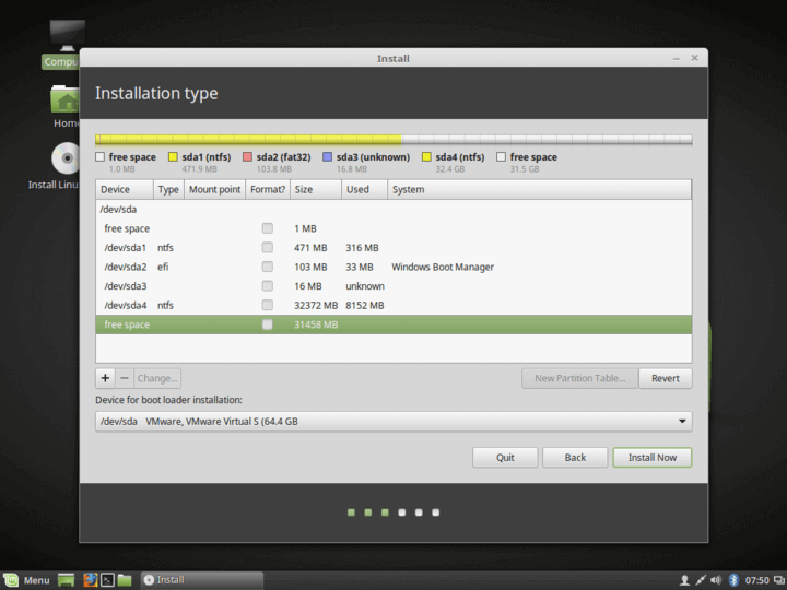 Linux Mint with Windows
