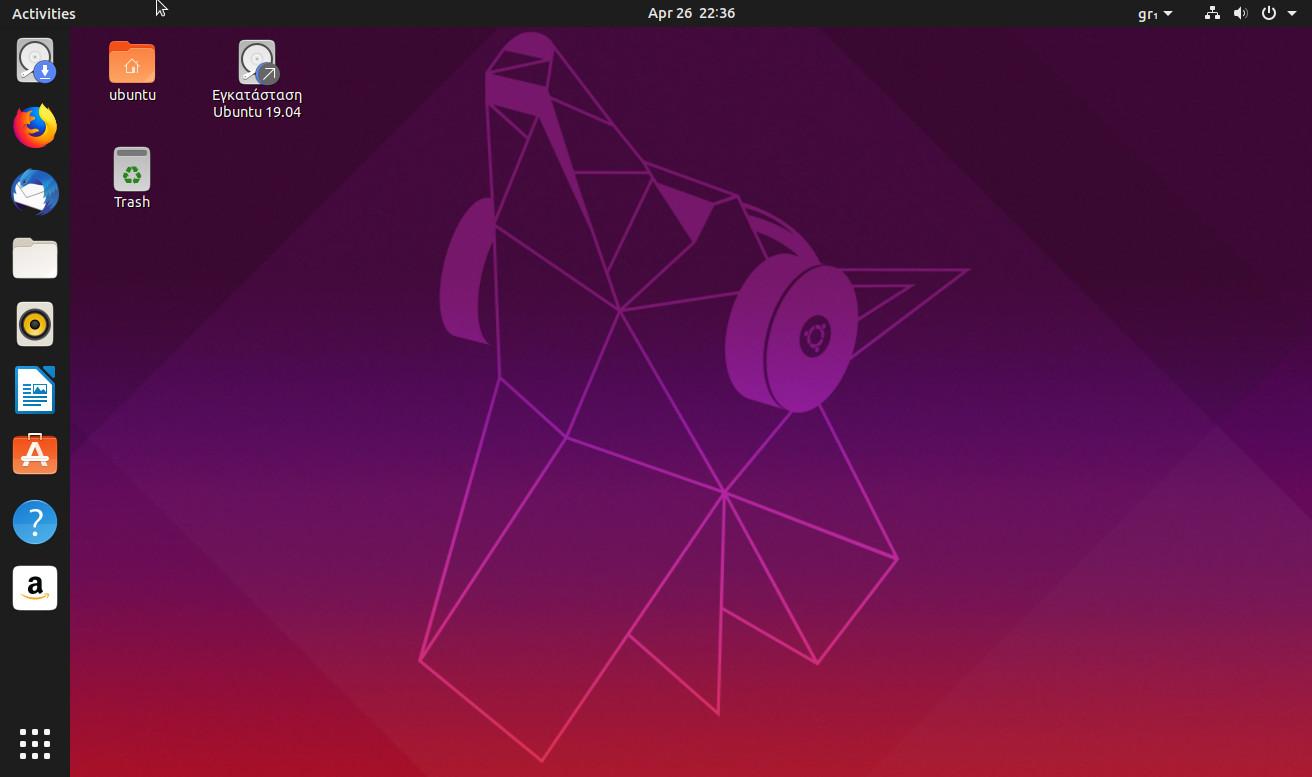 Ubuntu 19.04 live